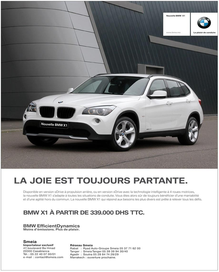 bmw x1 neuve en promotion au maroc. Black Bedroom Furniture Sets. Home Design Ideas