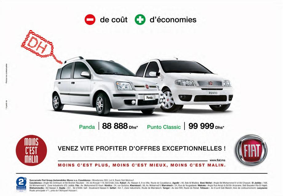 FIAT Panda Au Maroc à Partir De DH - Fiat promotion
