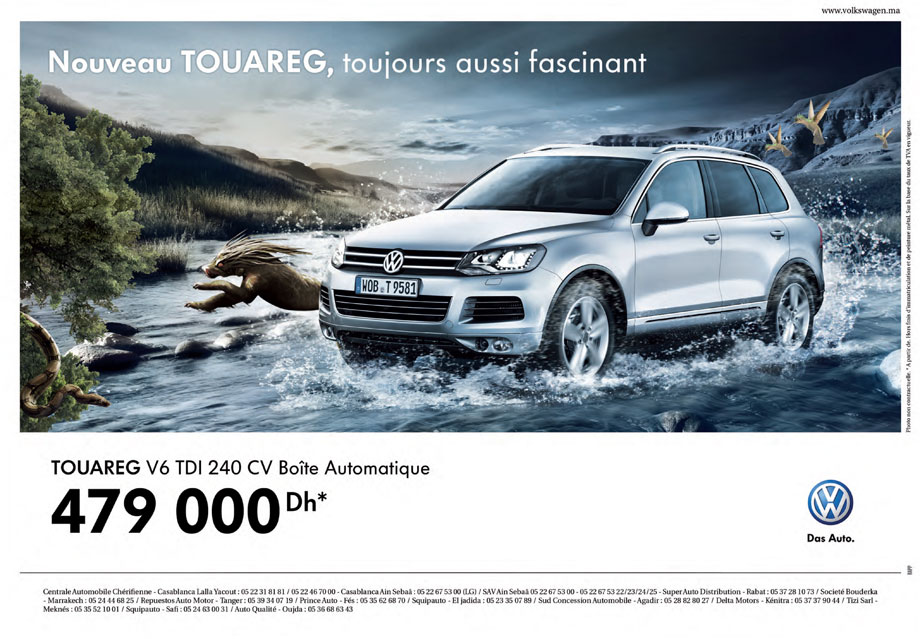 volkswagen touareg neuve en promotion au maroc. Black Bedroom Furniture Sets. Home Design Ideas