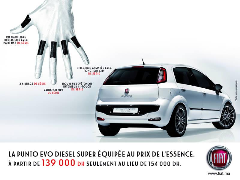 FIAT Punto Evo Au Maroc à Partir De DH - Fiat promotion