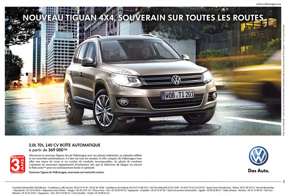 volkswagen tiguan neuve en promotion au maroc. Black Bedroom Furniture Sets. Home Design Ideas
