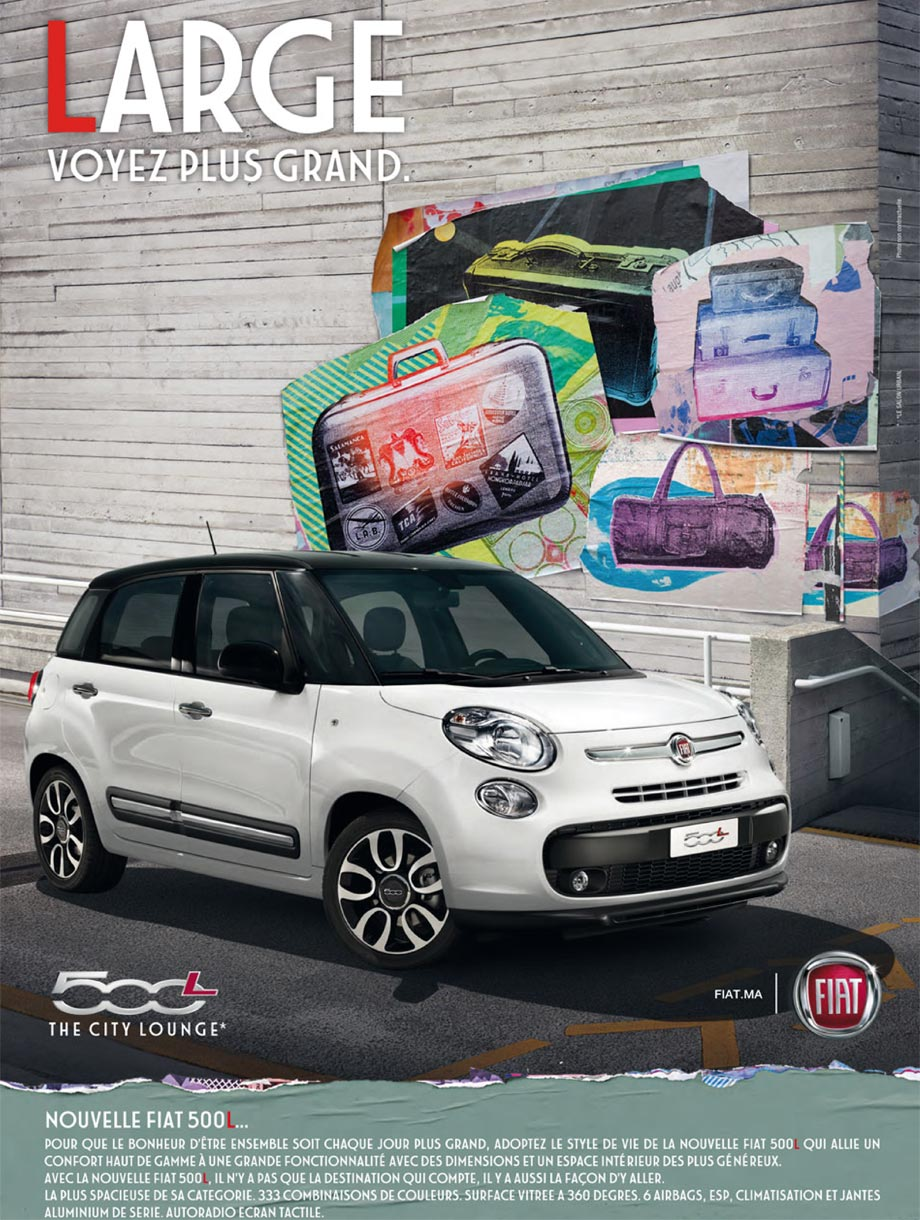 fiat 500l neuve en promotion au maroc. Black Bedroom Furniture Sets. Home Design Ideas