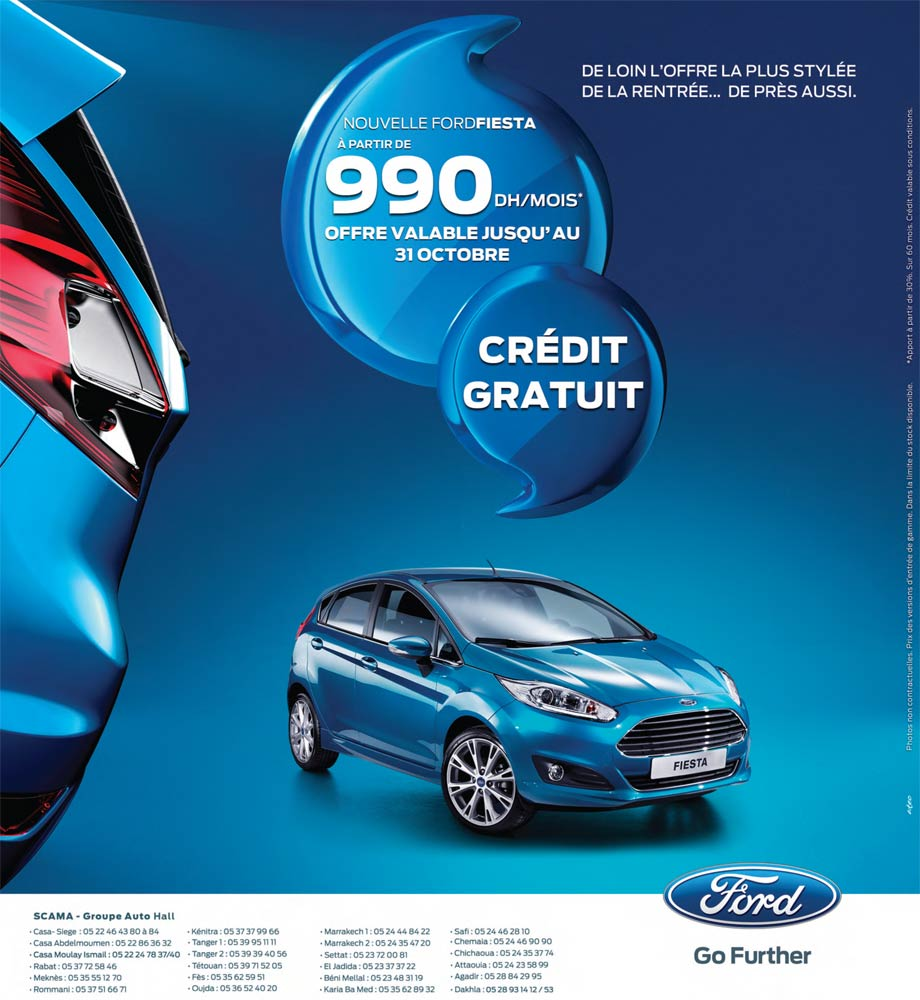 ford fiesta neuve en promotion au maroc. Black Bedroom Furniture Sets. Home Design Ideas