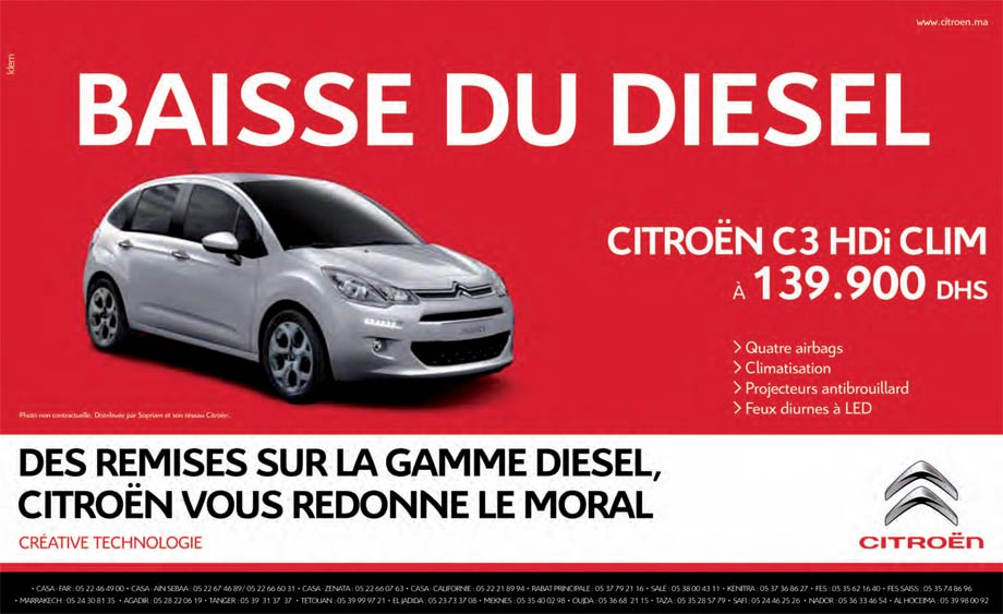 citroen c3 neuve en promotion au maroc. Black Bedroom Furniture Sets. Home Design Ideas