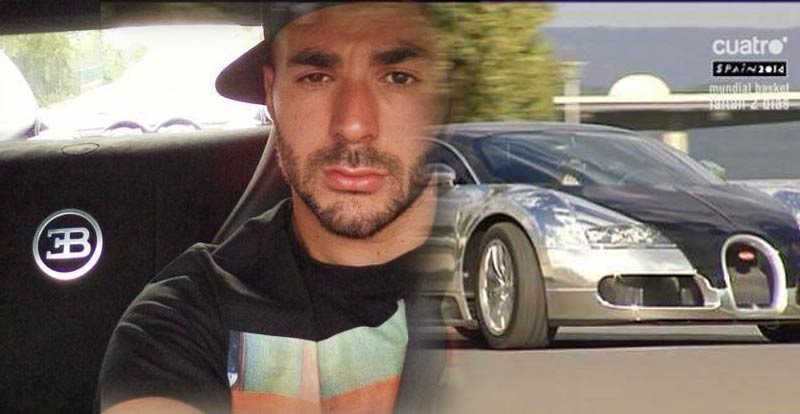 karim benzema au volant d 39 une bugatti veyron 2 mm d 39 euros. Black Bedroom Furniture Sets. Home Design Ideas