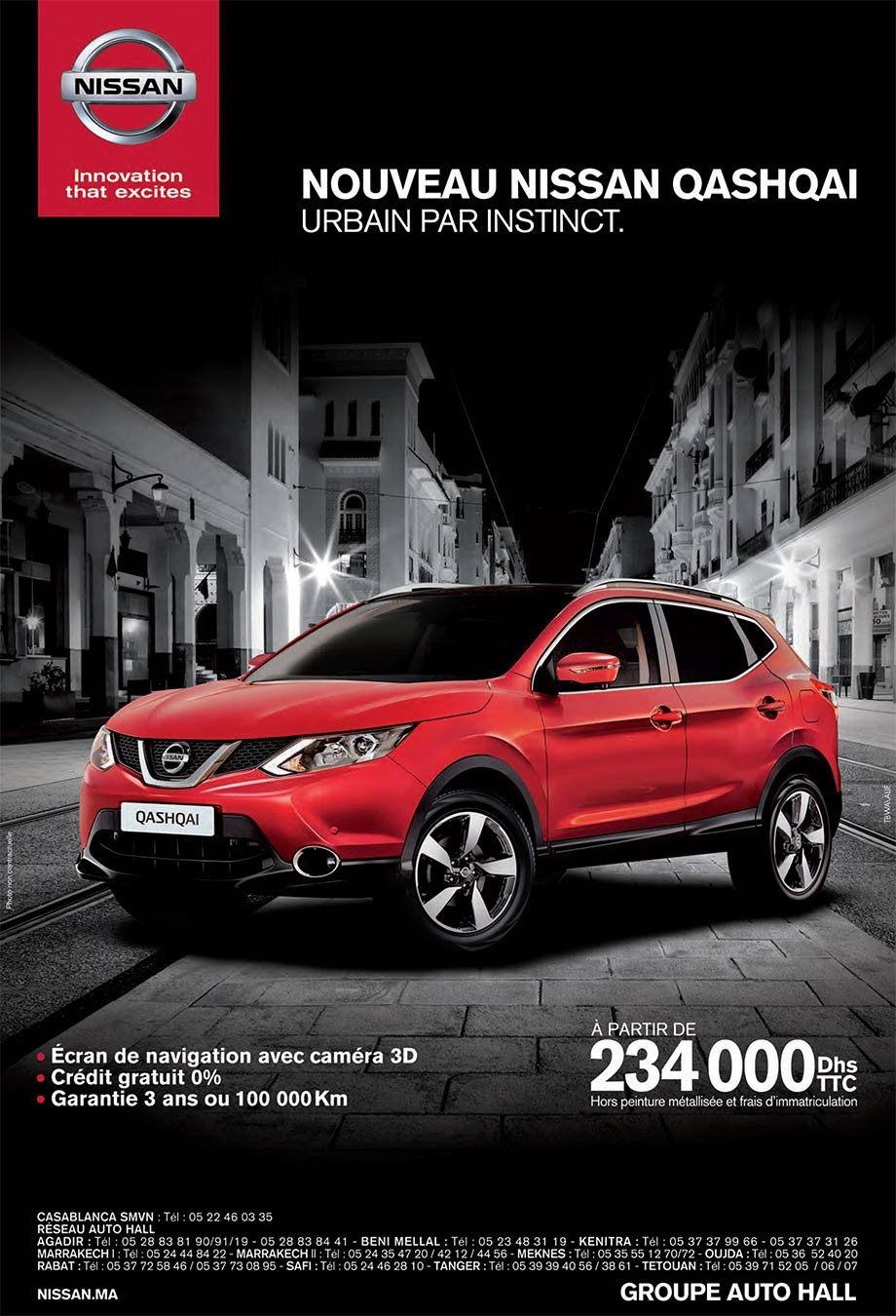nissan new qashqai neuve en promotion au maroc. Black Bedroom Furniture Sets. Home Design Ideas