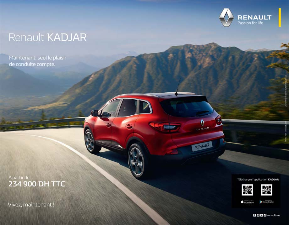 renault kadjar neuve en promotion au maroc. Black Bedroom Furniture Sets. Home Design Ideas