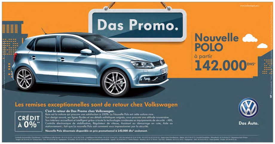 volkswagen polo neuve en promotion au maroc. Black Bedroom Furniture Sets. Home Design Ideas