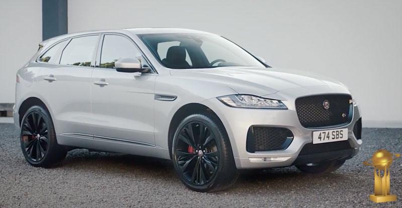 jaguar f pace doublement prim aux world car of the year 2017. Black Bedroom Furniture Sets. Home Design Ideas