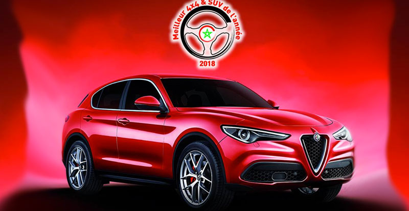 alfa romeo stelvio suv de l 39 ann e 2018 au maroc. Black Bedroom Furniture Sets. Home Design Ideas