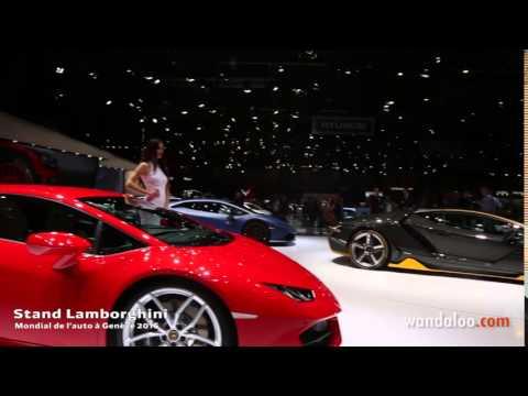 Stand Lamborghini à Genève 2016