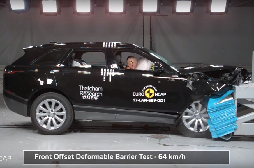 Range Rover Velar aux crash-tests de l'Euro NCAP 2017