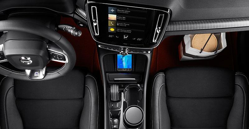 De nombreux et astucieux espaces de rangement sont proposés par le nouveau Volvo XC40