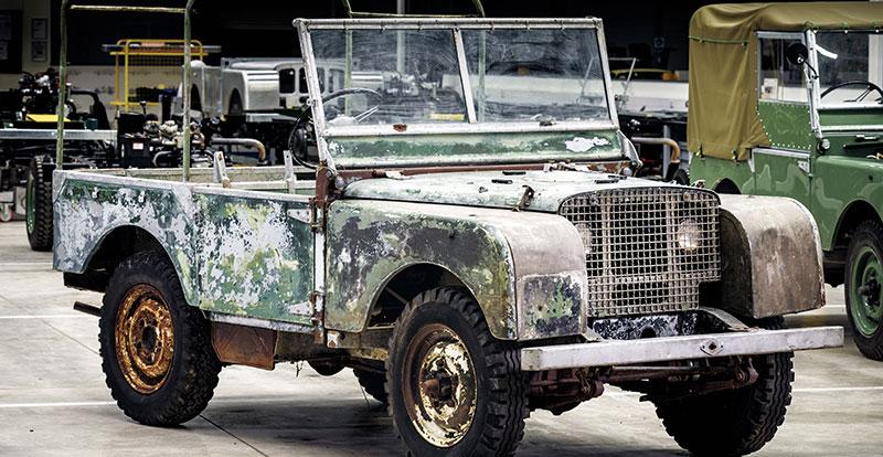 Le premier modèle de la marque Land Rover de 1948 a été retrouvé !