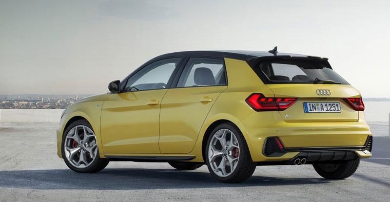 L'agressivité du regard se poursuit à l'arrière de la nouvelle Audi A1 Sportback 2019