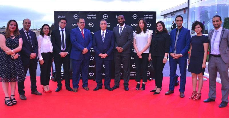L'équipe dirigeante de la SM2A avant l'inauguration du nouveau showroom OPEL ( crédit photo : Auto Hall )