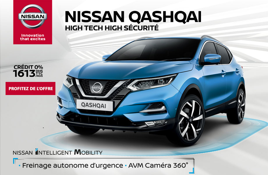 nissan qashqai neuve en promotion au maroc. Black Bedroom Furniture Sets. Home Design Ideas