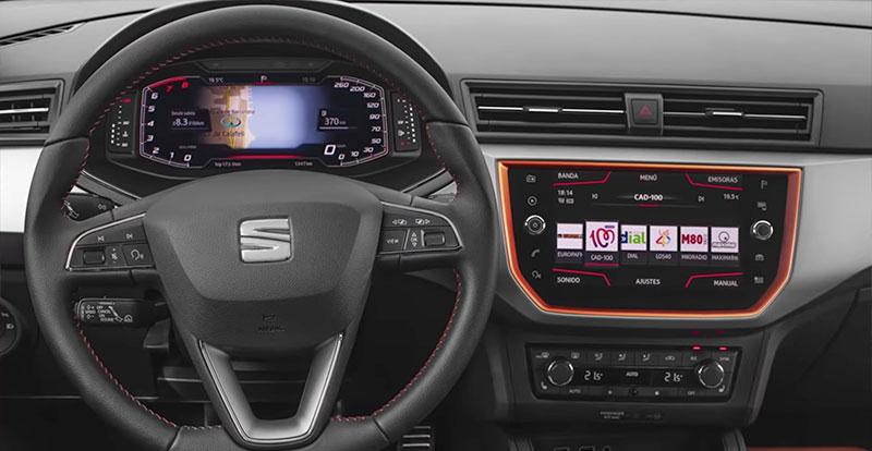 La nouvelle planche de bord de la SEAT Arona avec le Digital iCockPit