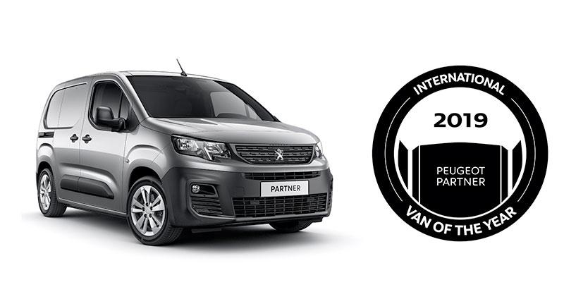 Actu. internationale - Peugeot Partner élu « Van of the Year 2019 »