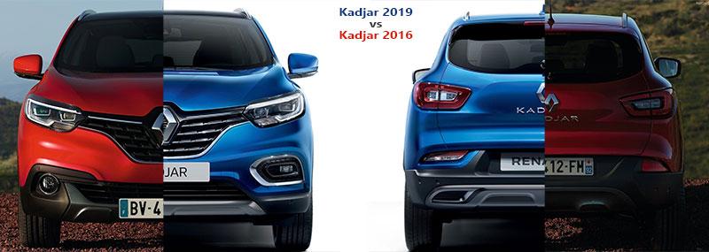Renault Kadjar 2019 vs Kadjar 2016