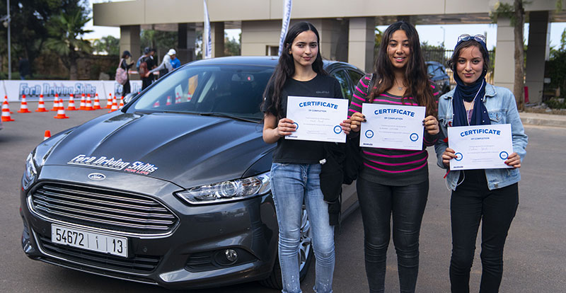 Actu. nationale - La première « FORD Driving Skills for life » Maroc