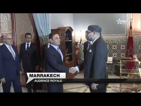 Carlos Ghosn en audience Royale à Marrakech
