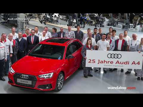 Audi A4 fête son 25ème anniversaire
