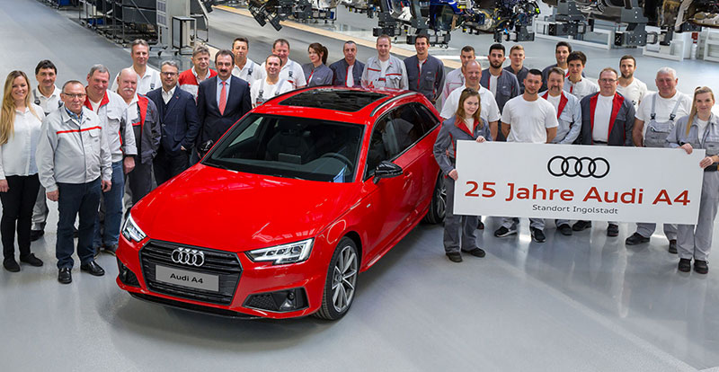 Actu. internationale - Audi A4 : le best-seller d'Ingolstadt fête ses 25 ans