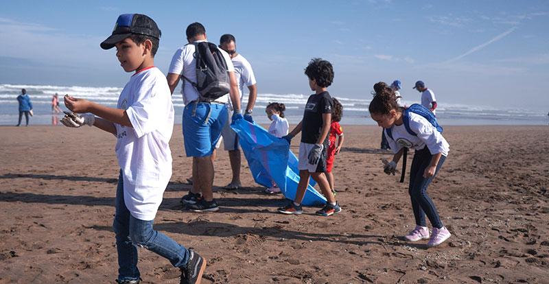 Même les enfants ont pris part à cette action citoyenne des plus louables.