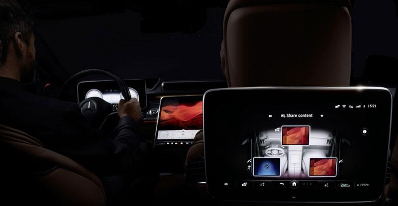 Avant-première - Orgie d'écrans OLED à bord de la future MERCEDES Classe S