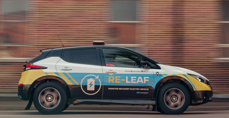 Inédit - NISSAN en mode «survivaliste» avec le concept de véhicule de secours 100% électrique RE-LEAF