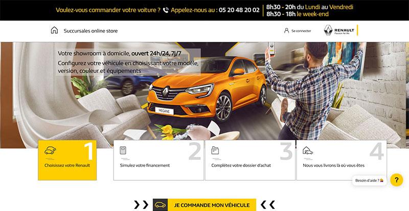 Actu. nationale - Les succursales de RENAULT Maroc lancent une plateforme de vente en ligne