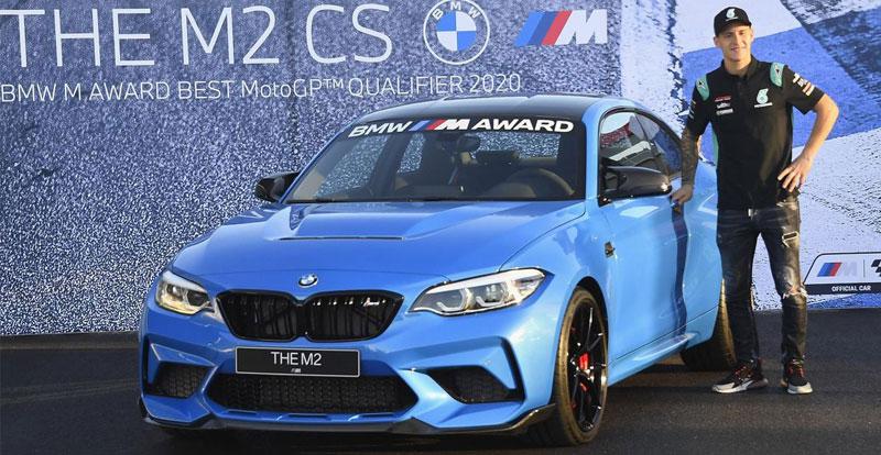 Actu. internationale - Le pilote de Moto GP Fabio Quartararo remporte une BMW M2 CS après une saison bien remplie!