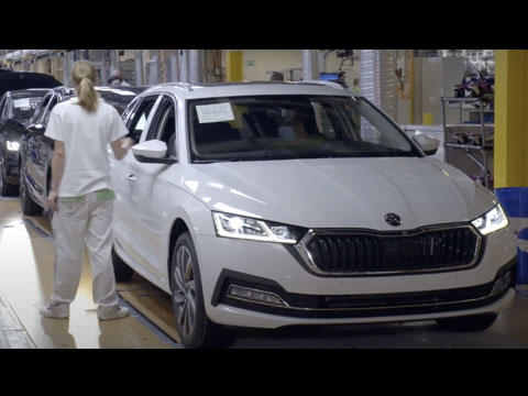 Production de la nouvelle SKODA Octavia 4 2020