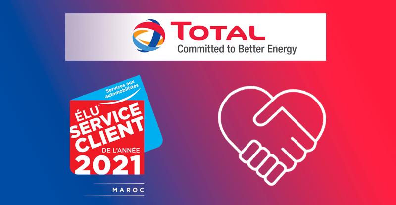Actu. nationale - TOTAL Maroc élu « Service Client de l'année » pour la 4ème année consécutive