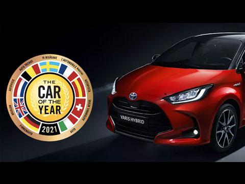 TOYOTA Yaris voiture mondiale de l'année COTY 2021