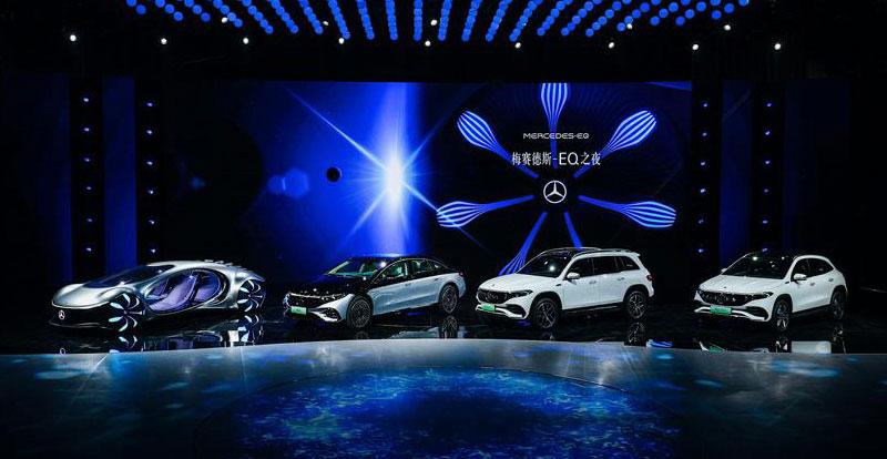 Salon - Coup double pour MERCEDES à Shanghai avec les nouveautés 100% électriques EQS et EQB!