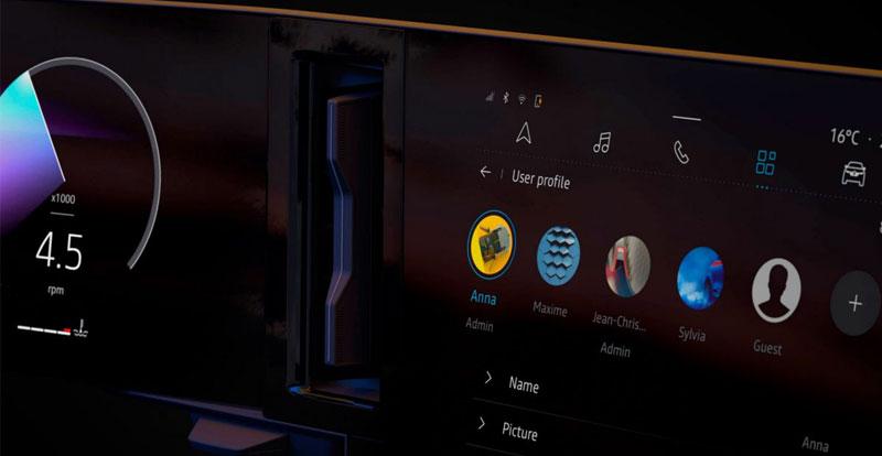 A l\'intérieur, le futur crossover zéro émission hérite d\'une double dalle numérique et d\'une console flottante.