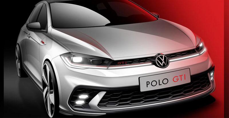 Avant-première - VOLKSWAGEN publie un premier croquis de la Polo GTI facelift