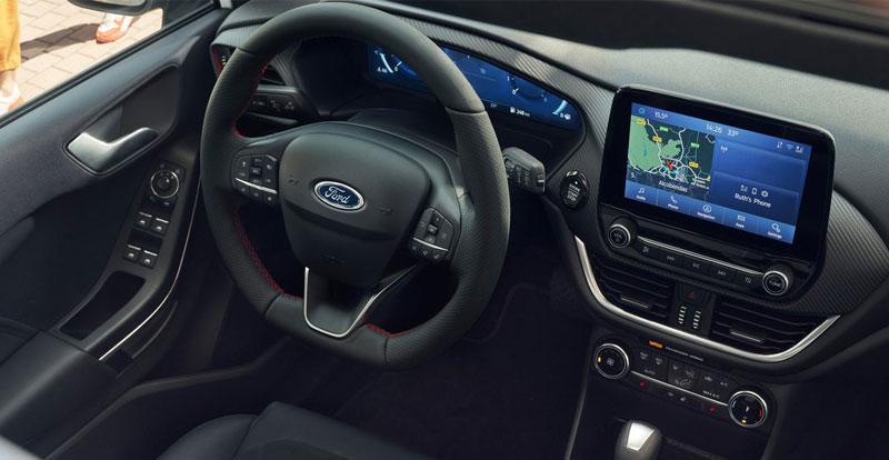 Nouvelle Fiesta propose dès le 2ème niveau de finition, une dalle digitale de 12,3 pouces face au conducteur